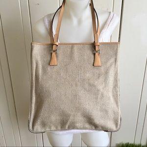 Cristian Italian Bag Linen - 12.5x12.5x3.5 linen